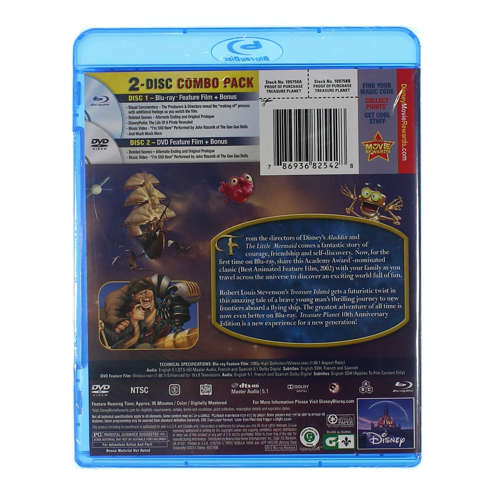 Movie: Treasure Planet (10th Anniversary Edition) (Blu-ray + DVD) 8019005826
