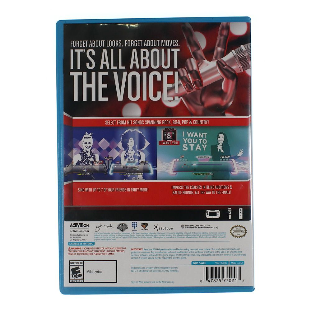 Video Game: The Voice: I Want You - Nintendo Wii U (Software Only) 8220543542
