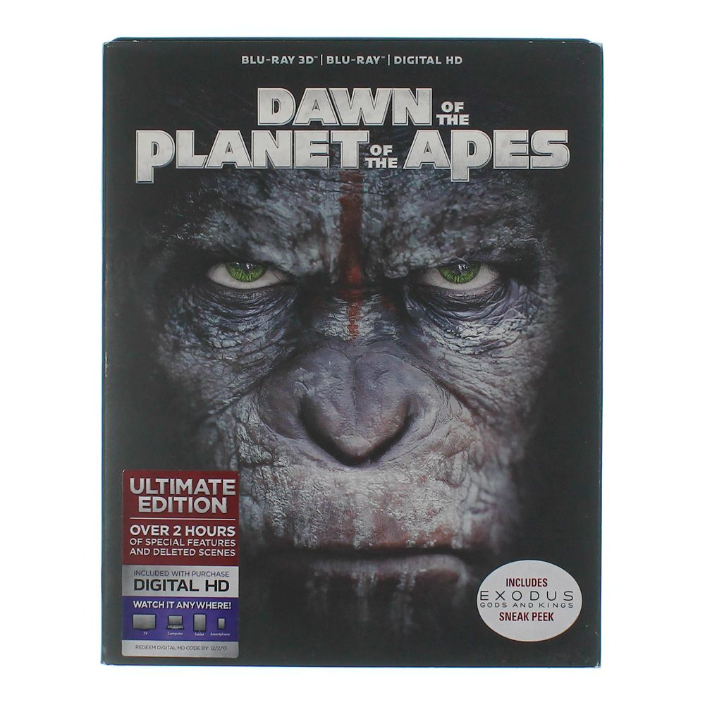 Movie: Dawn of the Planet of the Apes [Includes Digital Copy] [UltraViolet] [3D] [Blu-ray] [Blu-ray/Blu-ray 3D] [2014] 8252976496