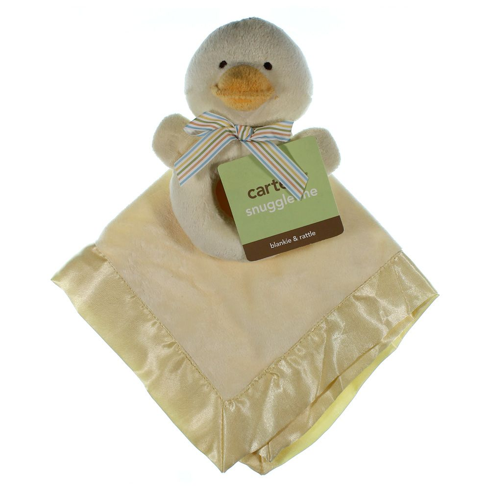Image of Carter's Duck Snuggle Buddy Teether Security Blanket - Yellow