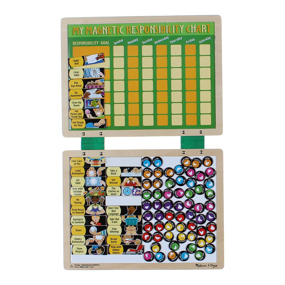 """""""""""Wooden Magnetic Responsibility Chart, size 16""""""""""""""""x 12"""""""""""""""""""""""""""" 8579287389"""