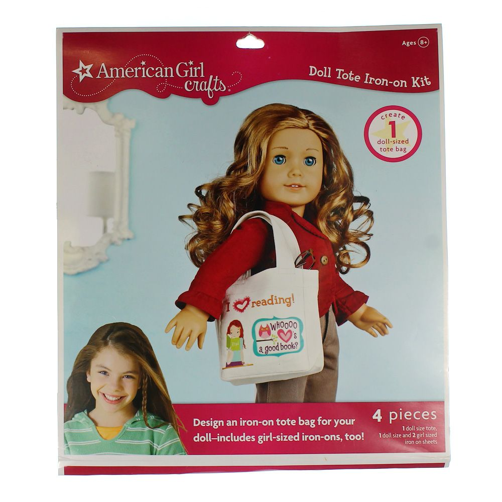 Image of American Girl Crafts Doll Iron-on Kit Tote