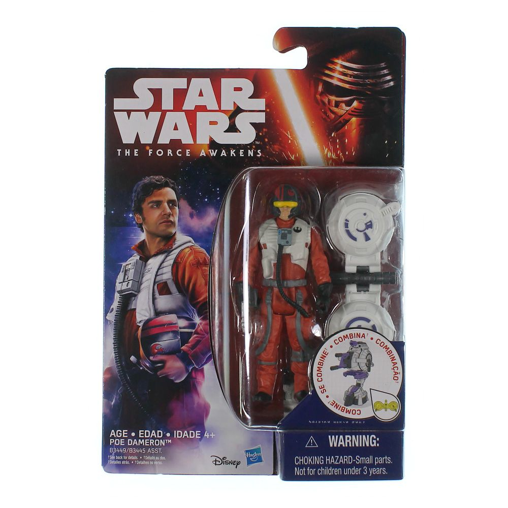 """""Star Wars The Force Awakens 3.75"""""""" Figure Space Mission Poe Dameron"""""" 9037778163"
