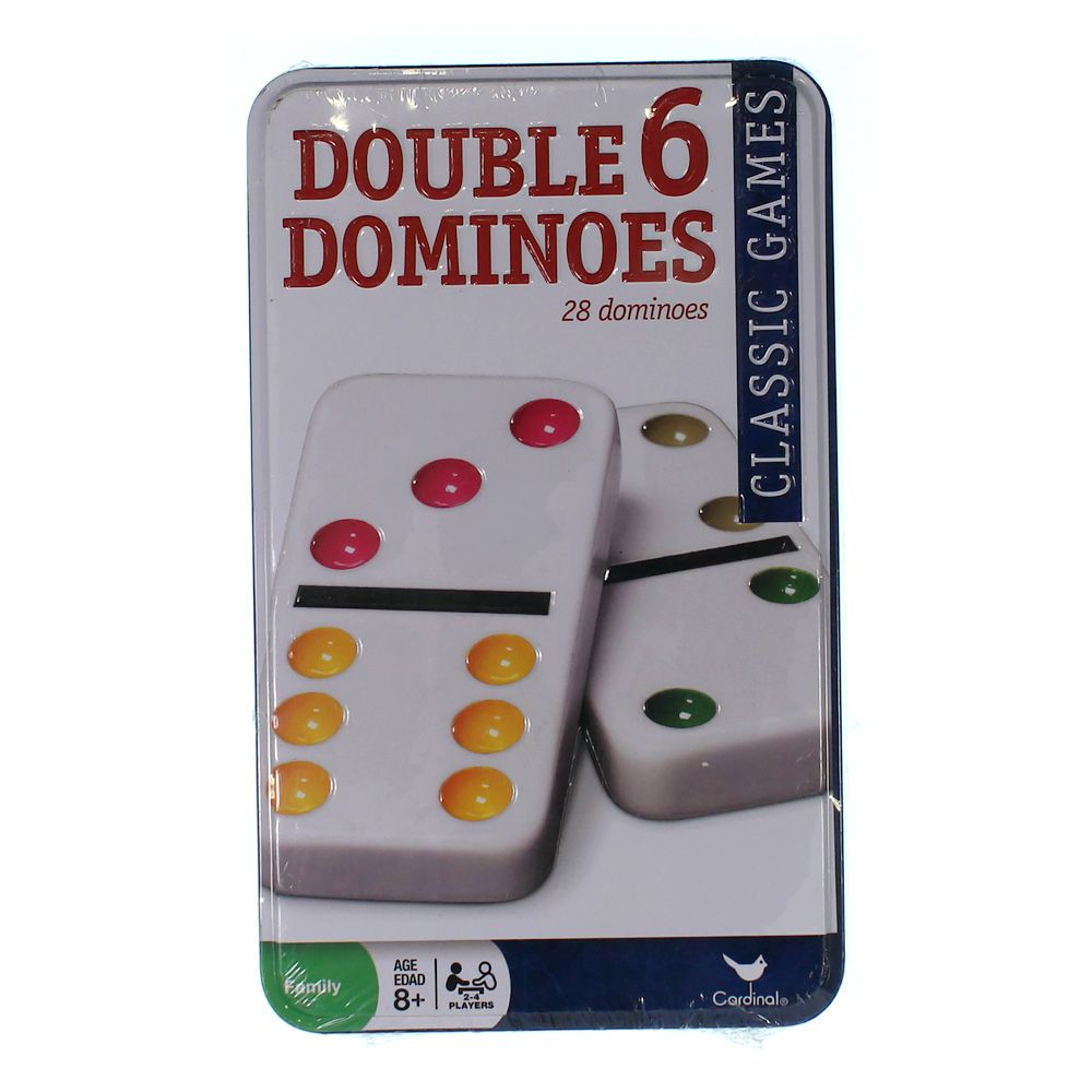 Game: Double Six Color Dot Dominoes 9211312294