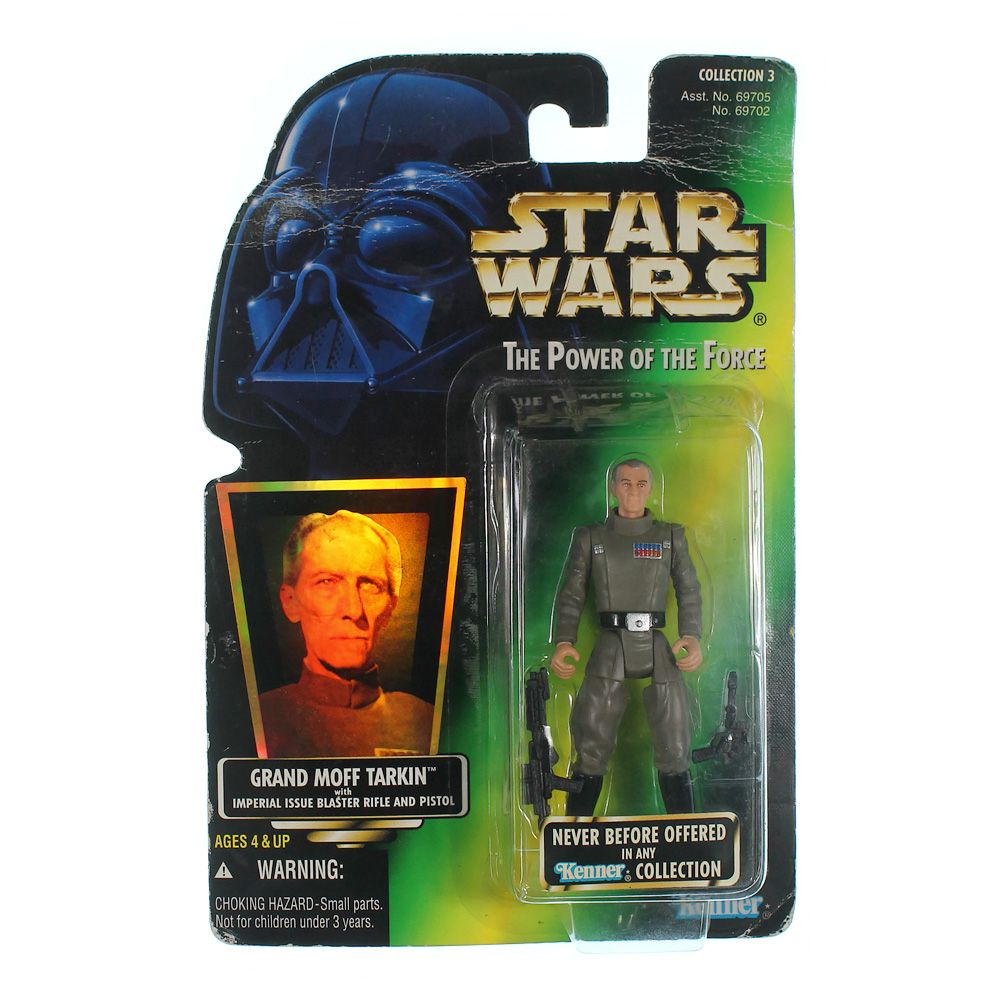 Star Wars Power of the Force Green Card Grand Moff Tarkin Action Figure 3.75 Inches 9462497553