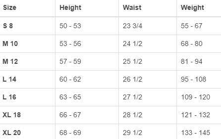 Land's End big boys' regular pants & shorts size chart