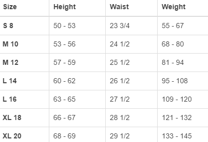 Land's End big boys' regular tops size chart