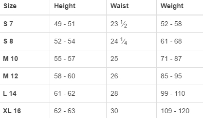 Land's End big girls' regular outerwear size chart