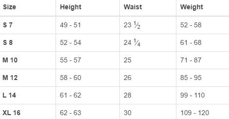 Land's End big girls' regular pants & shorts size chart