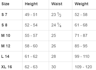 Land's End big girls' regular swimwear size chart