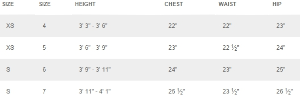 Disney boys' 4-7 tops outerwear size chart