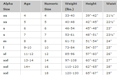 Gap sizing chart tole quiztrivia co