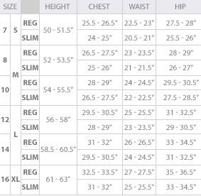 Calvin Klein girls' clothing size chart