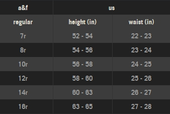 Abercrombie Amp Fitch Size Chart Swap Com The Largest