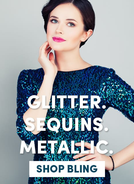 Glitter, sequins, metallic - Shop bling