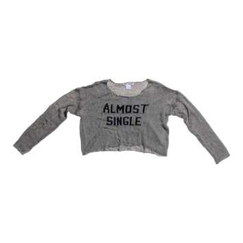 """Almost Single"" Cropped Sweater for Sale on Swap.com"