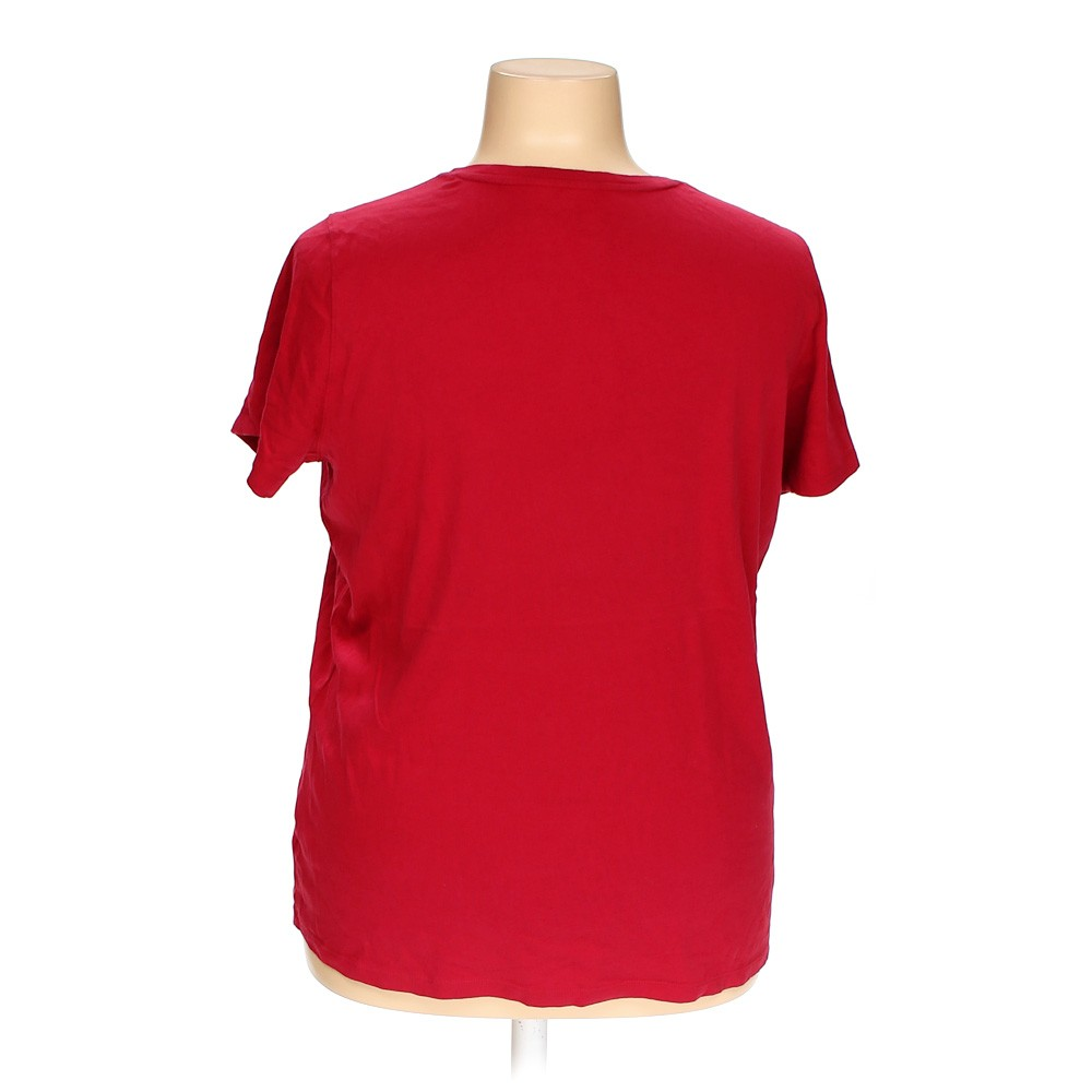 Red St John S Bay Basic Shirt In Size 2x At Up To 95 Off