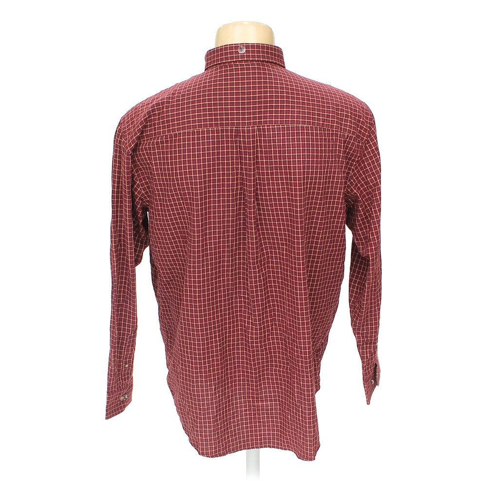 Maroon Arrow Button Down Long Sleeve Shirt In Size 2xl At