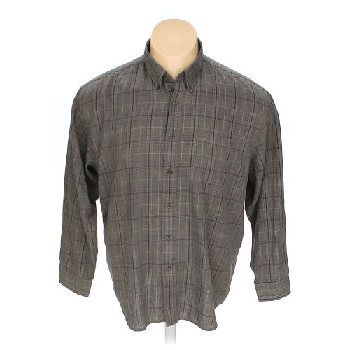 Grey arrow button down long sleeve shirt in size xxl at up for 18 36 37 shirt size