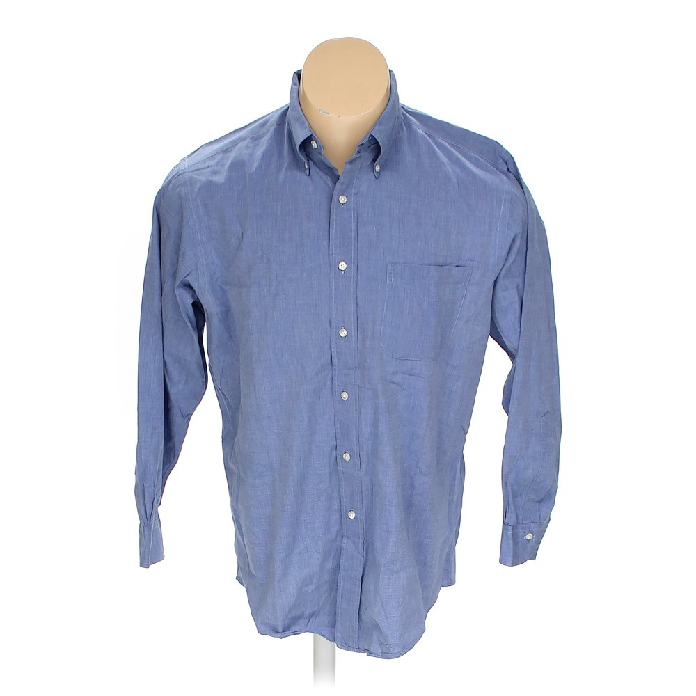 Blue navy brooks brothers button down long sleeve shirt in for Brooks brothers tall shirts
