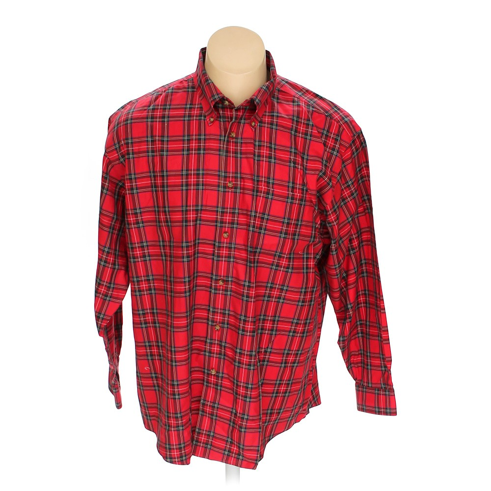 red brooks brothers button down long sleeve shirt in size