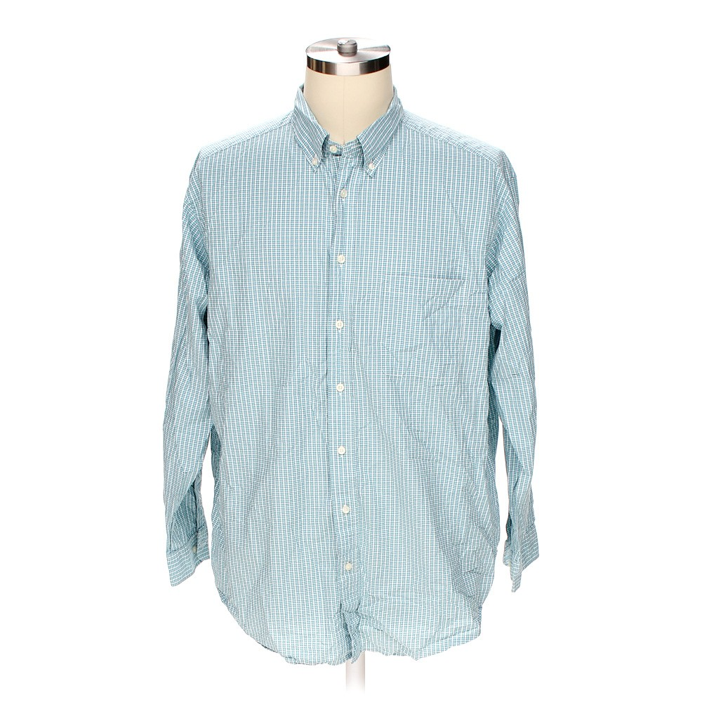 Turquoise Casuals Button Down Long Sleeve Shirt In Size