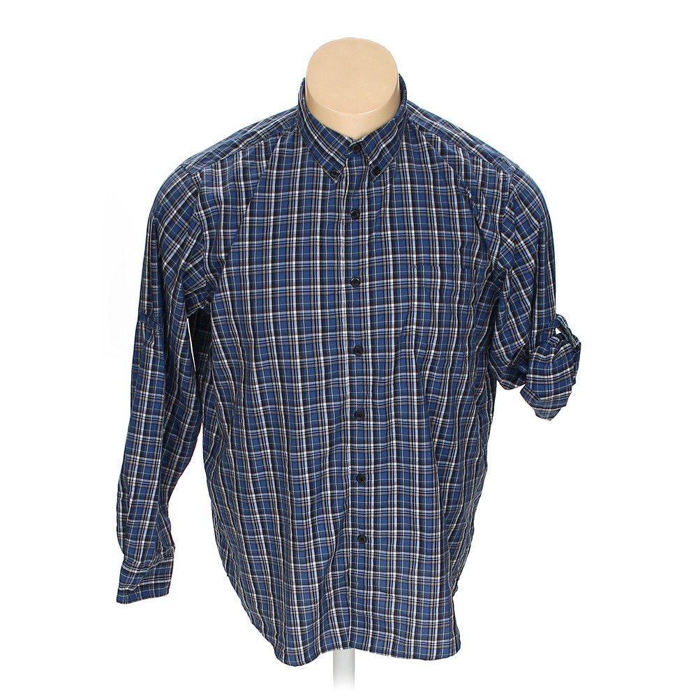 Blue navy chaps button down long sleeve shirt in size 2xl for 18 36 37 shirt size