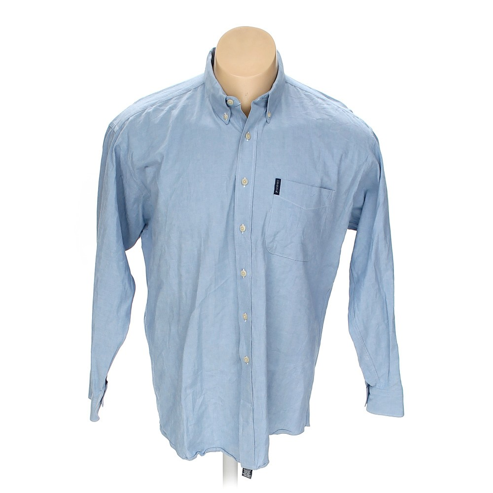 Light blue chaps button down long sleeve shirt in size xl for 18 36 37 shirt size