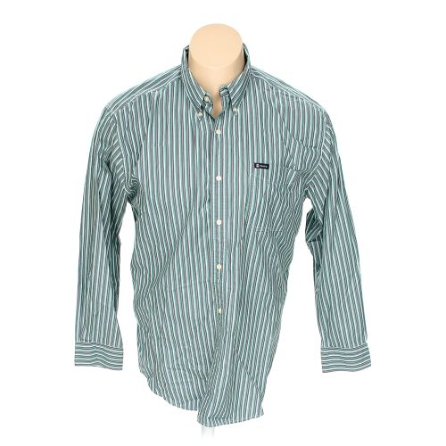 Multi colored chaps button down long sleeve shirt in size for 18 36 37 shirt size