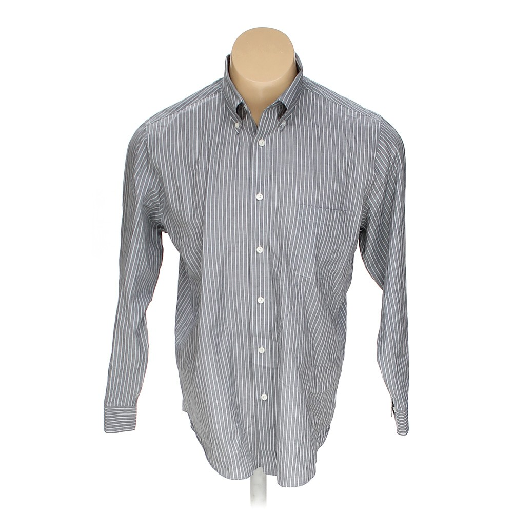 Grey croft barrow button down long sleeve shirt in size for Croft and barrow womens polo shirts