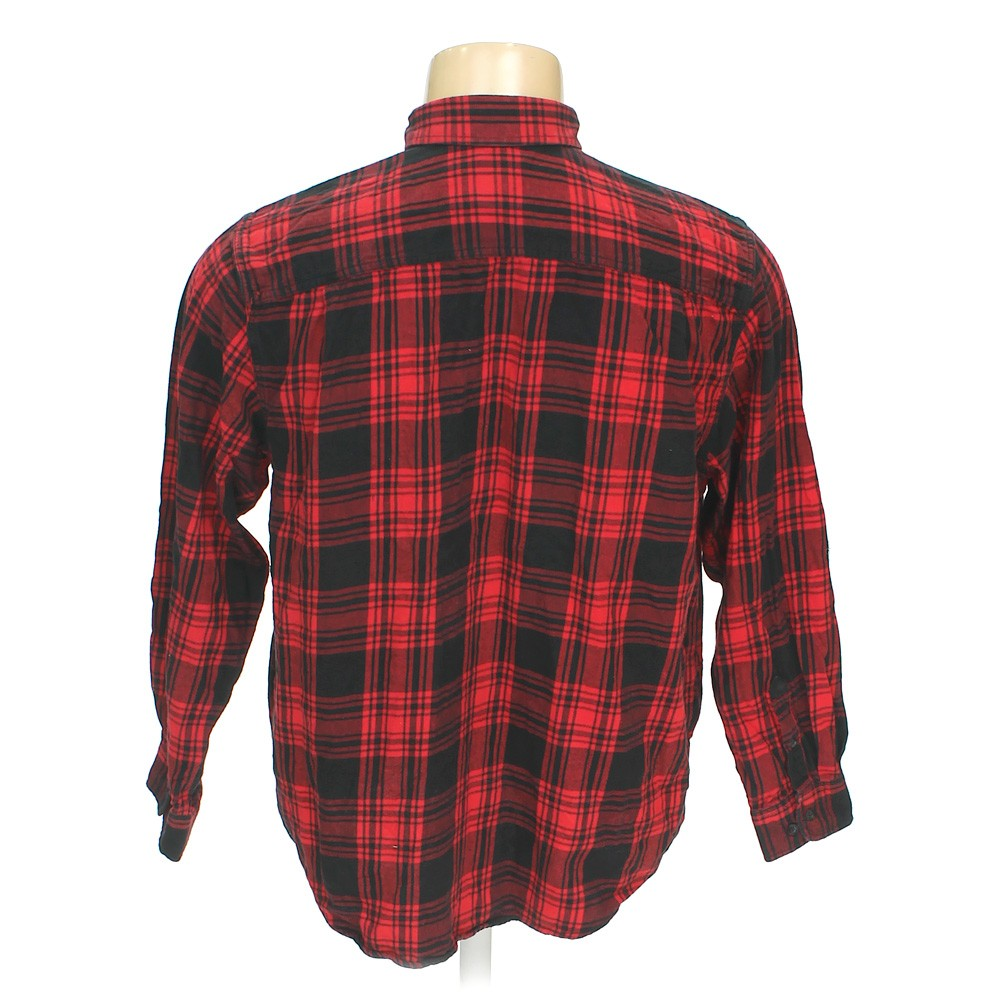 Faded glory button down long sleeve shirt in size 50 for 18 36 37 shirt size
