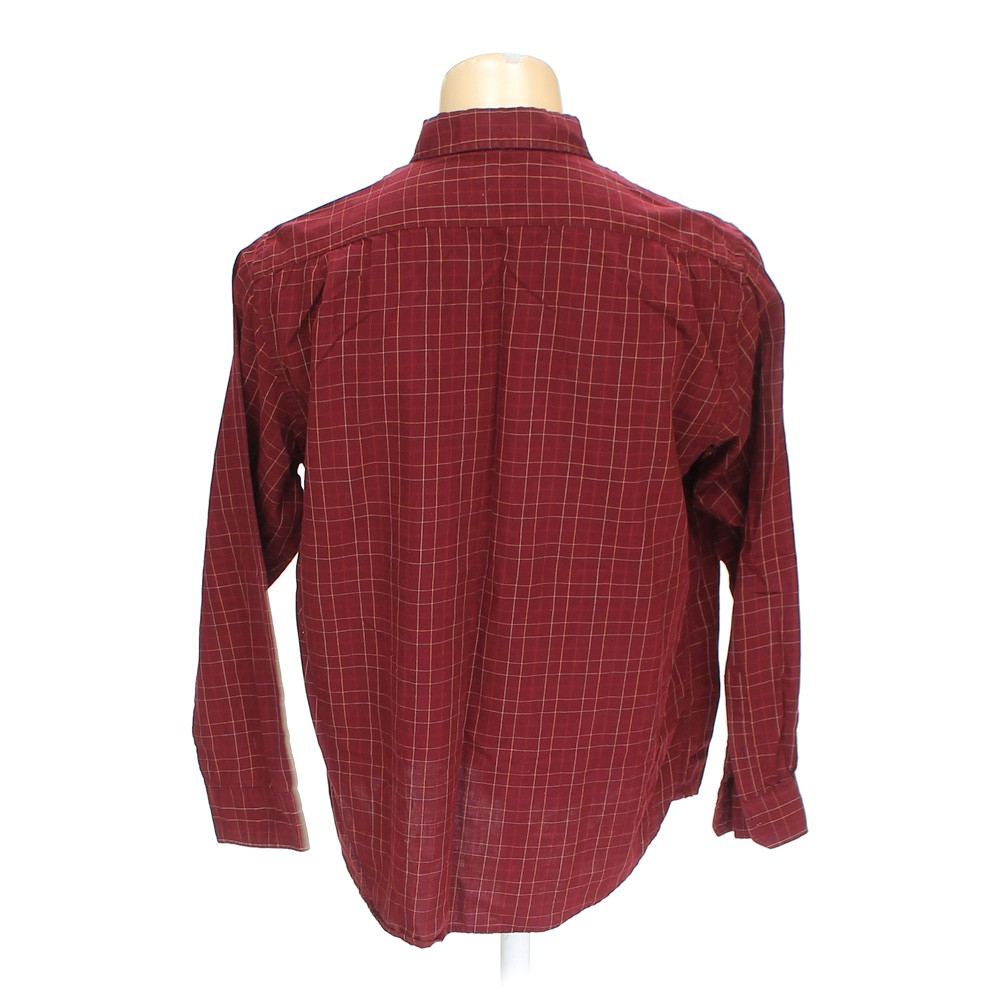 Maroon george button down long sleeve shirt in size xl at for 17 33 shirt size