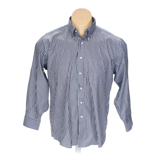 Brown kirkland signature button down long sleeve shirt in for 17 33 shirt size