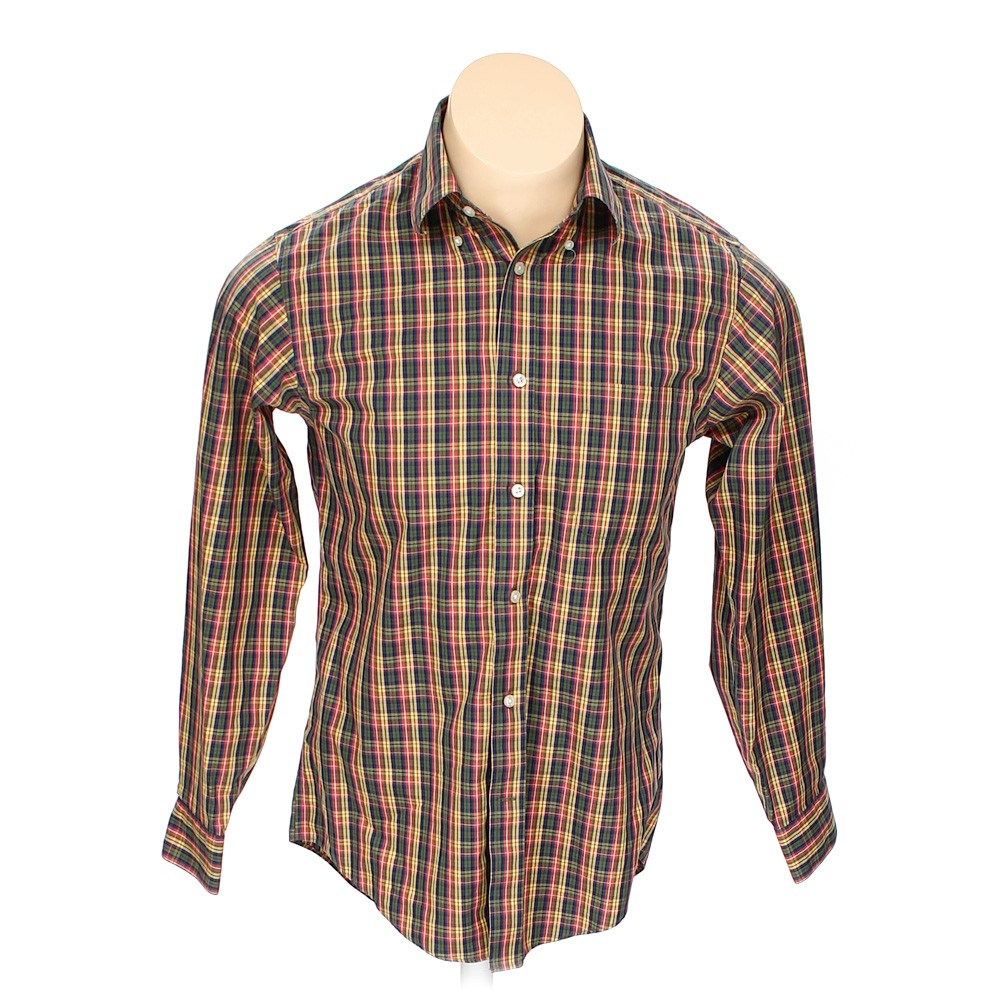 Multi Colored Lands 39 End Button Down Long Sleeve Shirt In