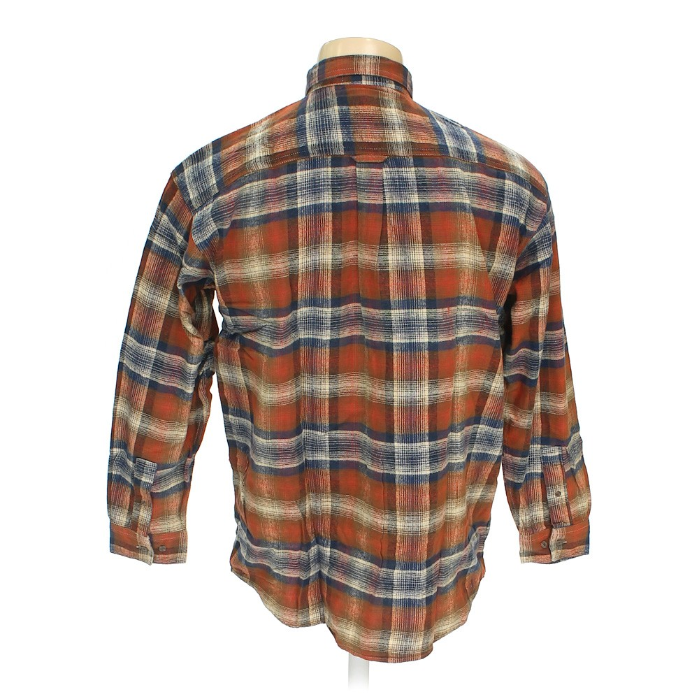 Brown Lee Button Down Long Sleeve Shirt In Size Xl At Up