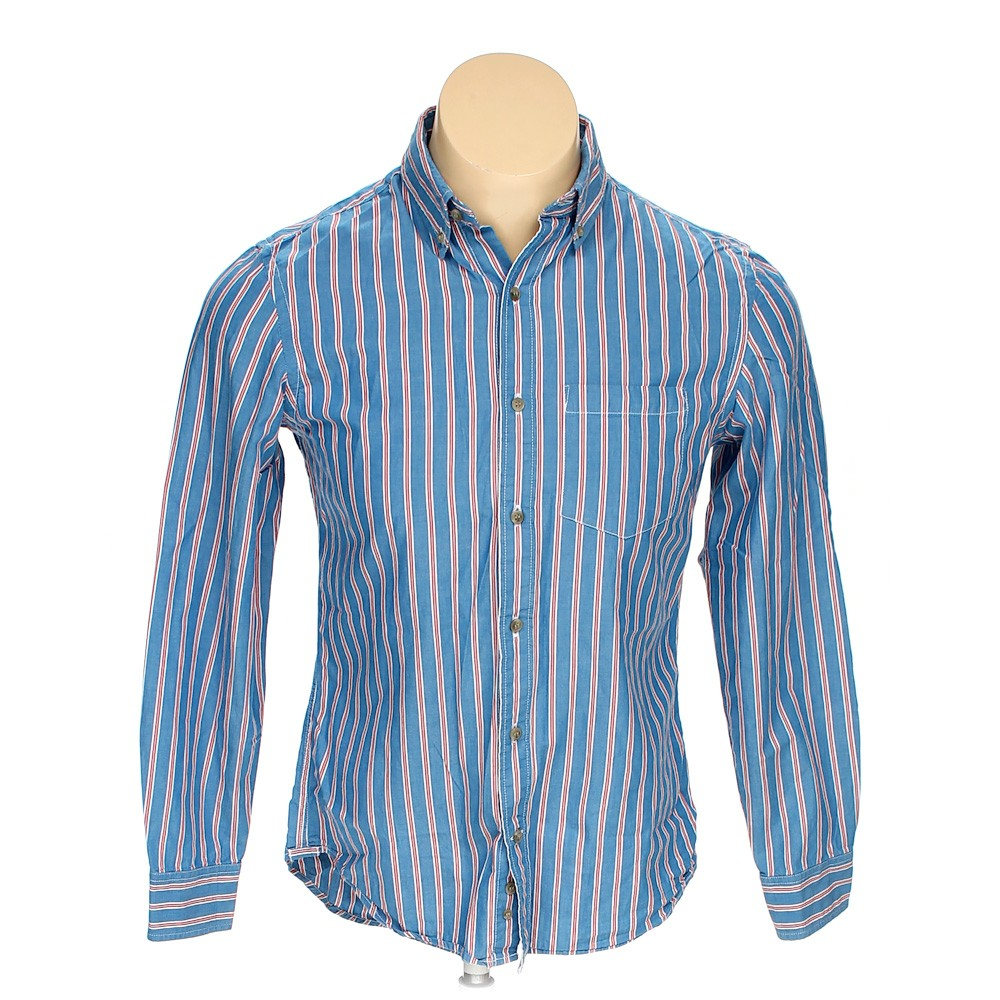 Light blue old navy button down long sleeve shirt in size for 17 33 shirt size
