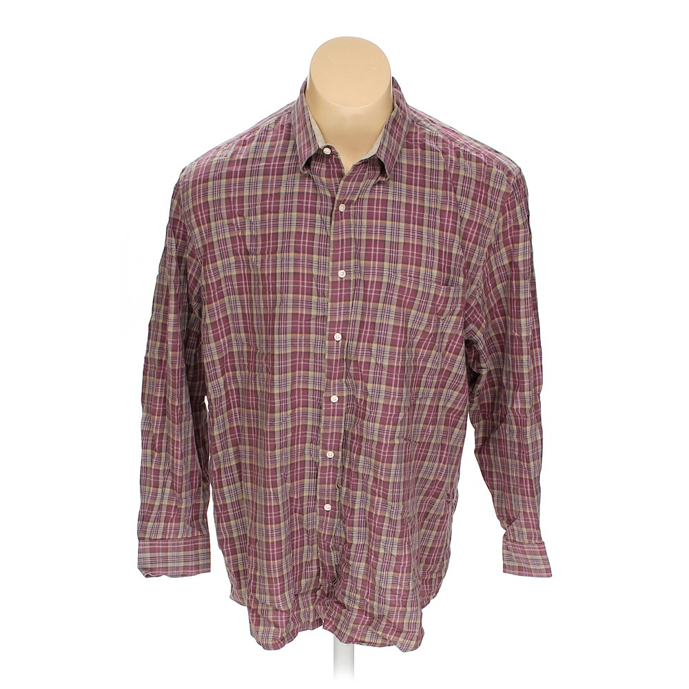 Purple Saddlebred Button Down Long Sleeve Shirt In Size
