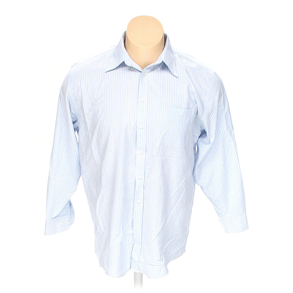 Light blue stafford button down long sleeve shirt in size for Stafford big and tall shirts