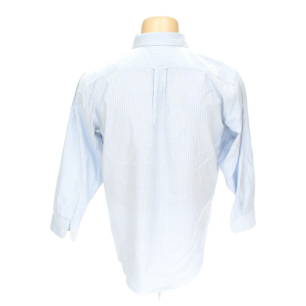 Light blue stafford button down long sleeve shirt in size for Stafford t shirts big and tall