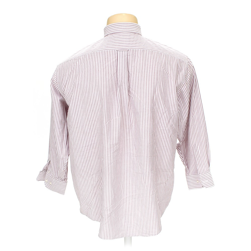 Stafford button down long sleeve shirt in size 52 chest for Stafford t shirts big and tall