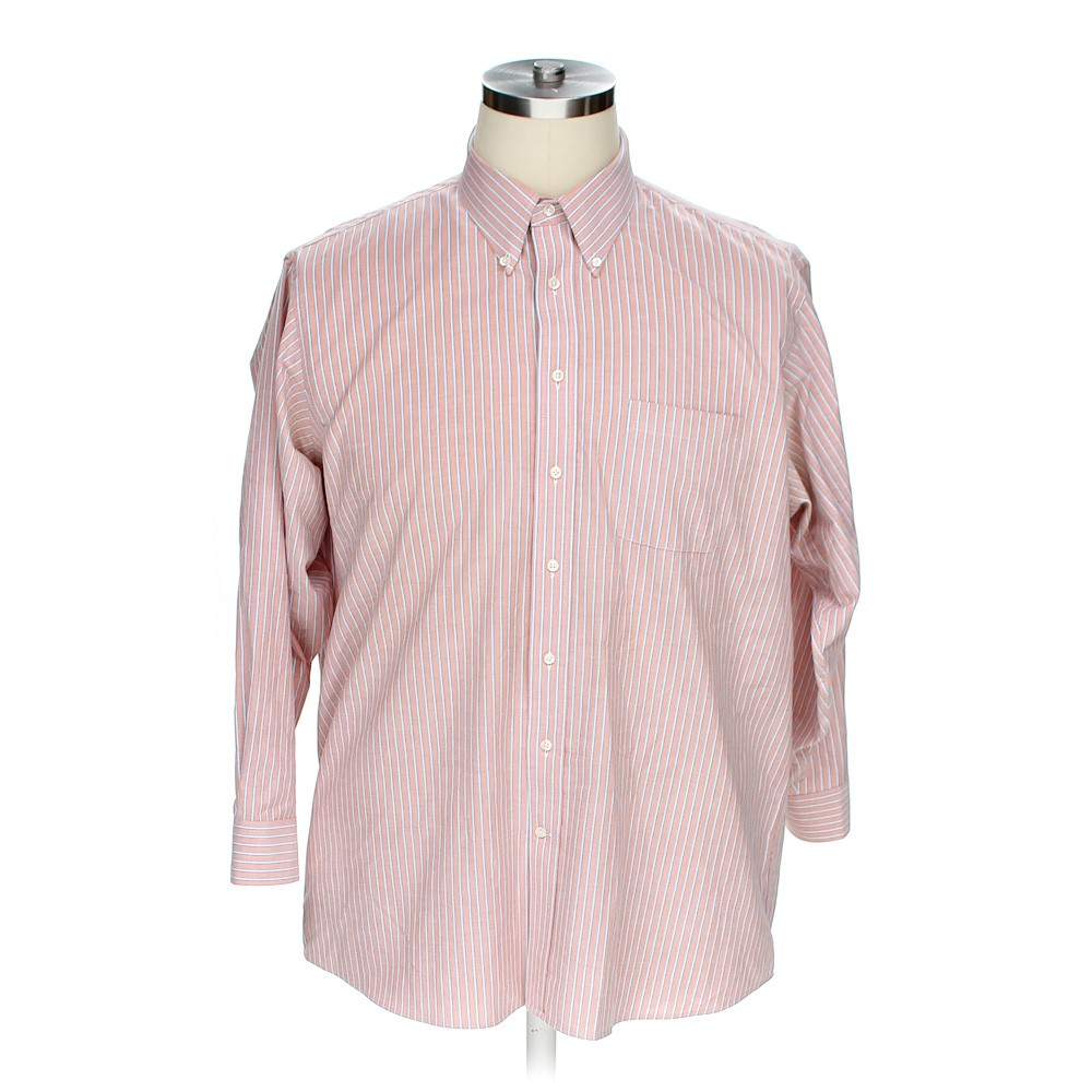 Pink stafford button down long sleeve shirt in size 56 for Stafford big and tall shirts
