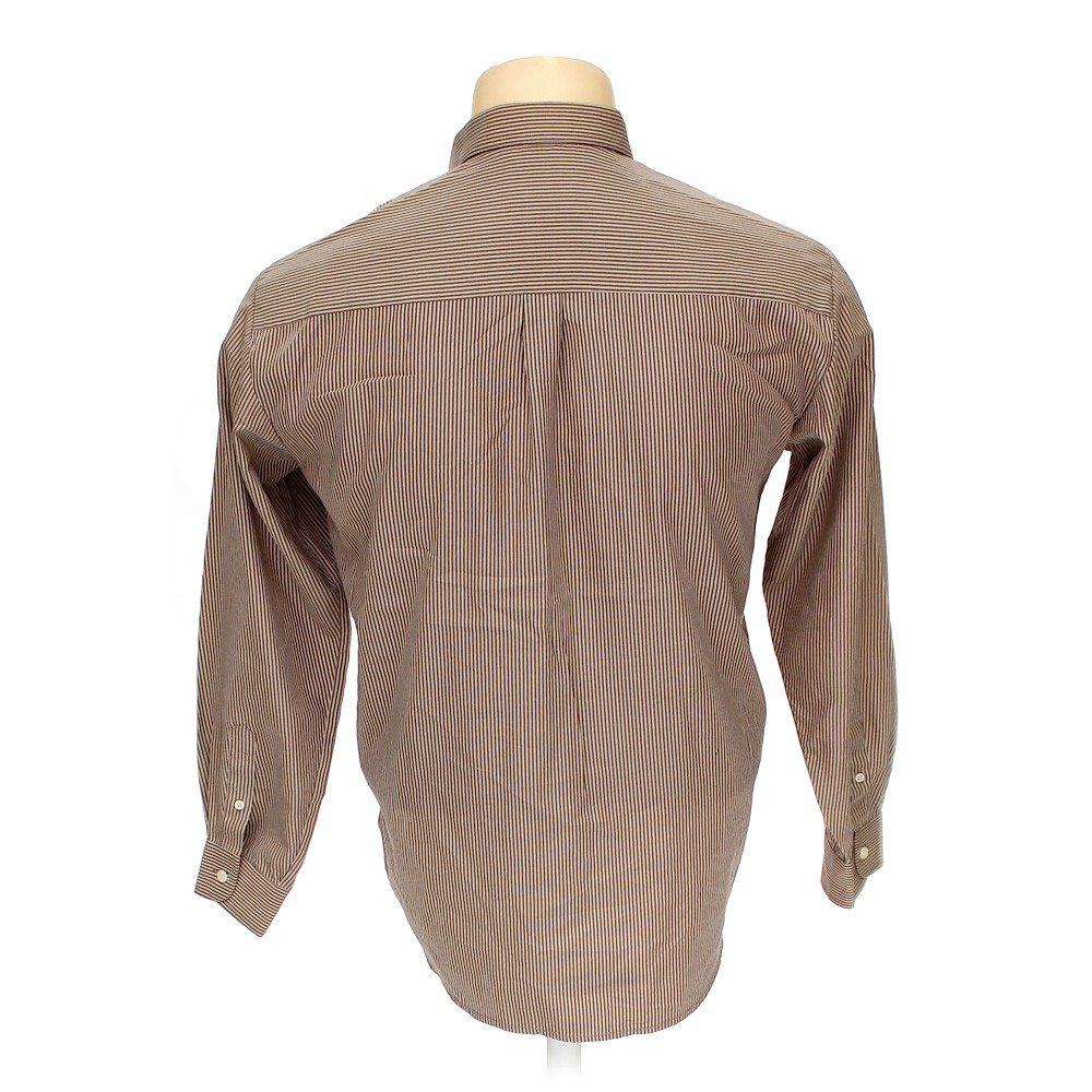 Brown sydney hunter button down long sleeve shirt in size for 17 33 shirt size