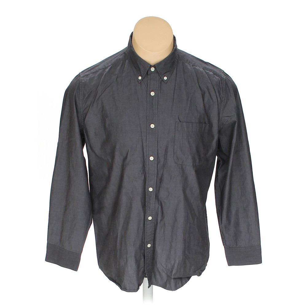 Grey tricots st raphael button down long sleeve shirt in for 17 33 shirt size