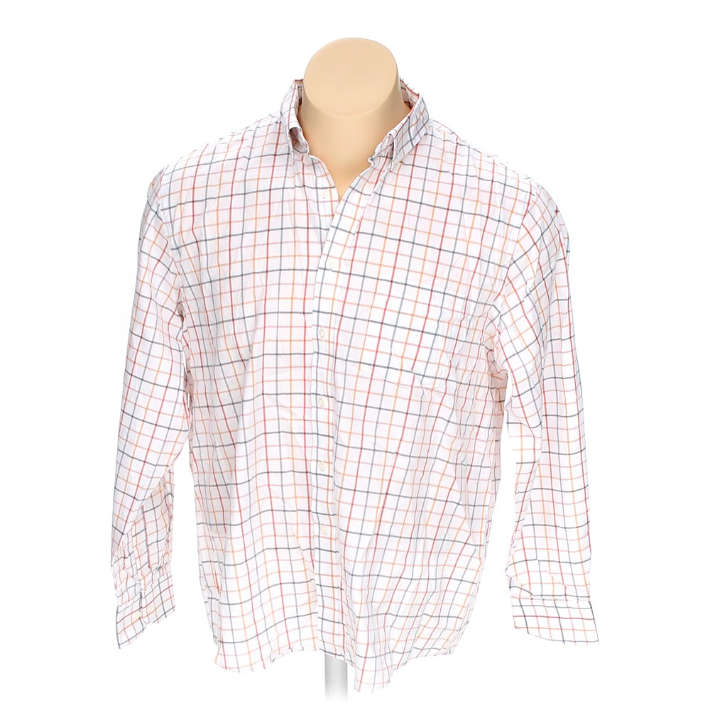 White van heusen button down long sleeve shirt in size 54 for 18 36 37 shirt size
