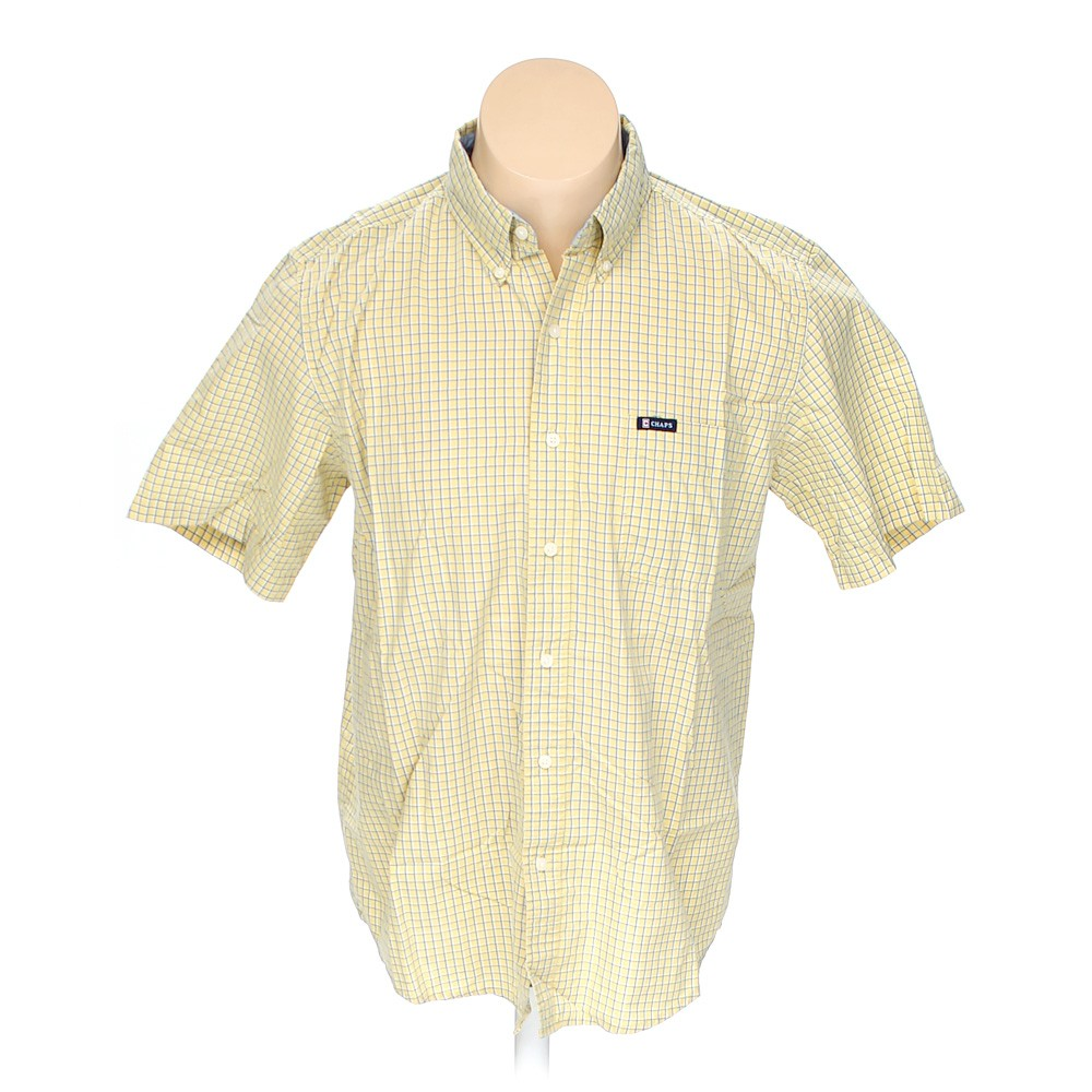 Chaps button down short sleeve shirt in size l at up to 95 for Chaps button down shirts