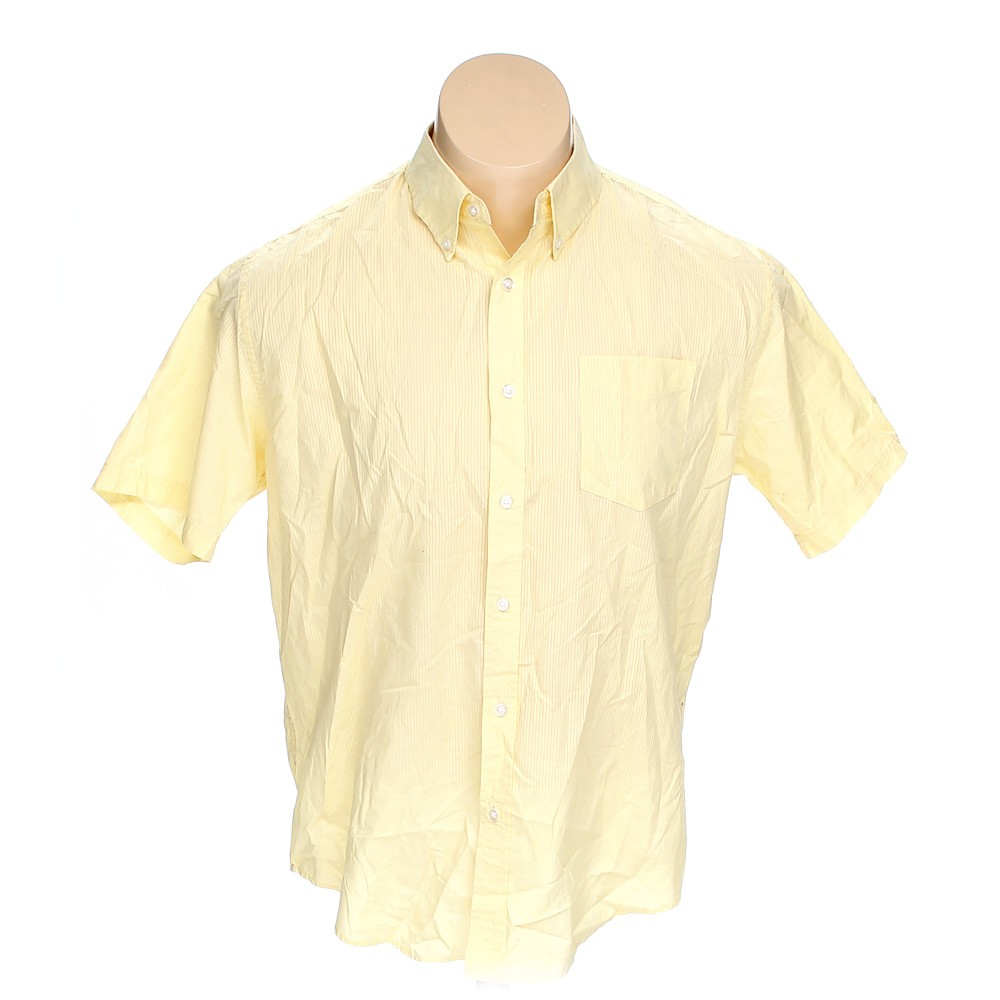 Yellow croft barrow button down short sleeve shirt in for Croft and barrow womens polo shirts