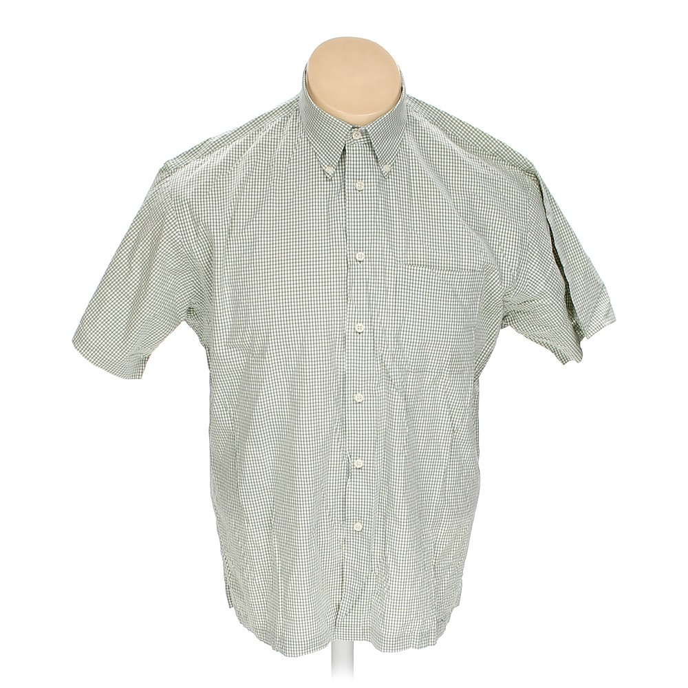 Green Izod Button Down Short Sleeve Shirt In Size Xxl At