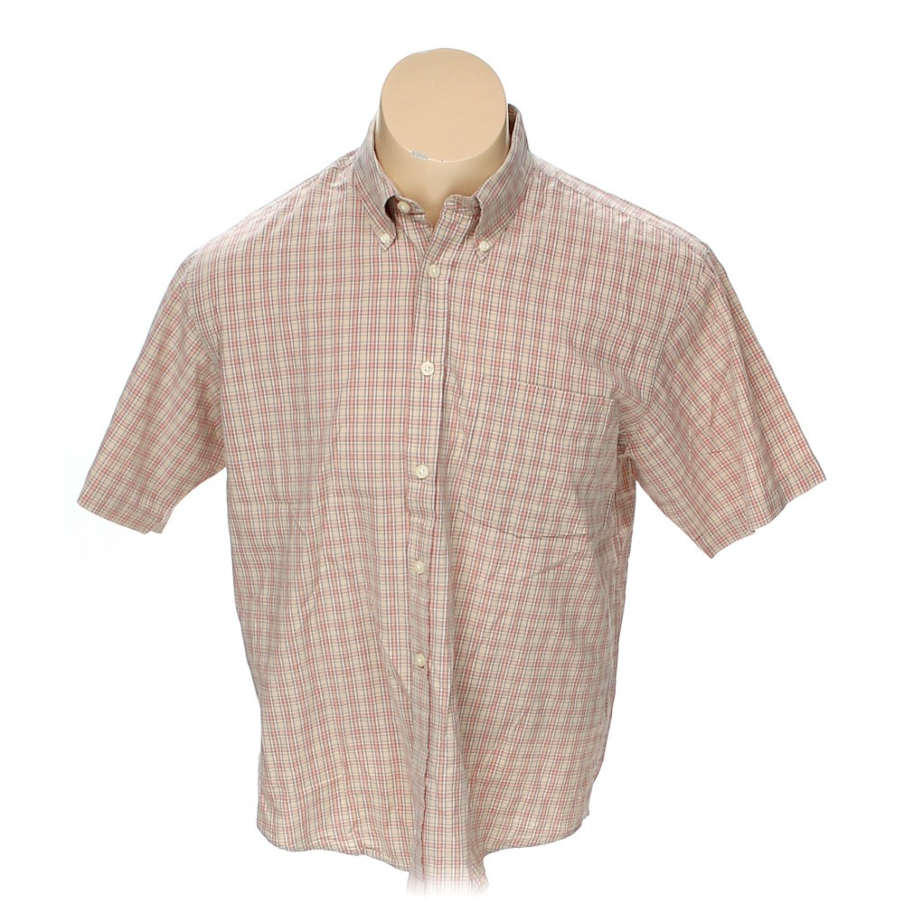 Izod Button Down Short Sleeve Shirt In Size L At Up To 95