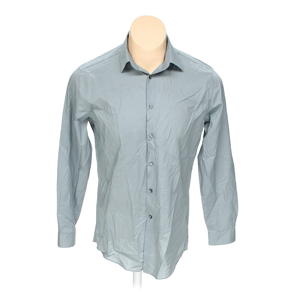 Grey J Ferrar Button Up Long Sleeve In Size At Up To 95