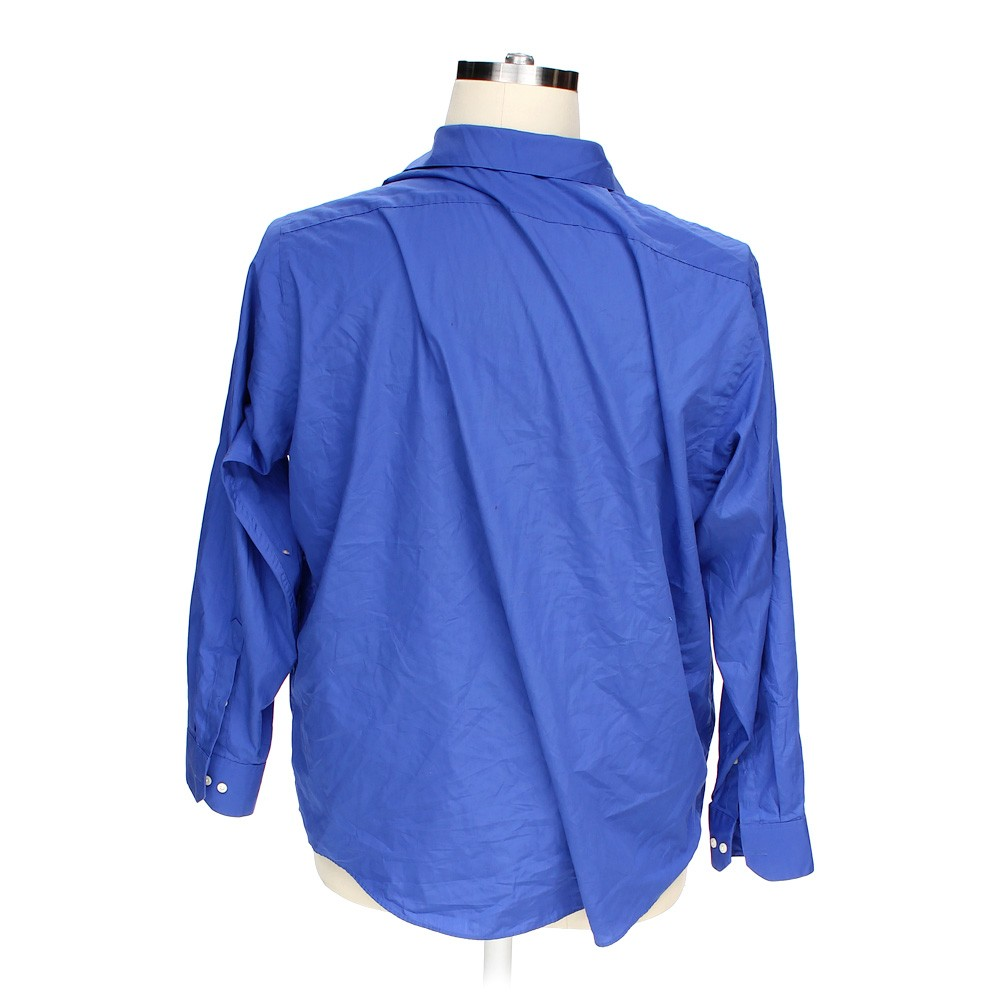 Blue navy arrow button up long sleeve shirt in size 2xl at for 18 36 37 shirt size